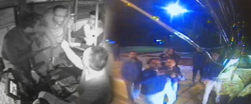 Otobüs şoförünü dövüp, aracın camını çekiçle kırmışlardı, yakalandılar!