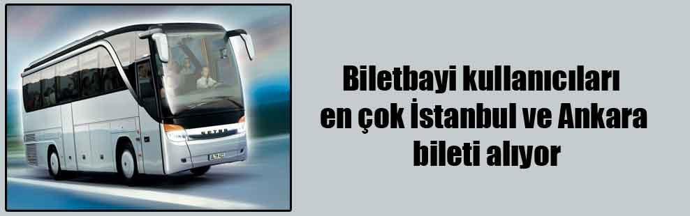 Biletbayi kullanıcıları en çok İstanbul ve Ankara bileti alıyor