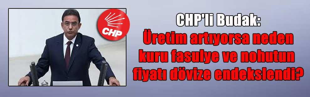 CHP'li Budak: Üretim artıyorsa neden kuru fasulye ve nohutun fiyatı dövize endekslendi?