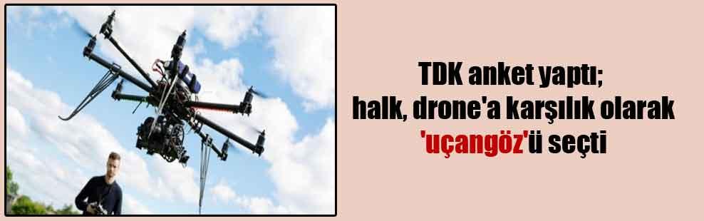 TDK anket yaptı; halk, drone'a karşılık olarak 'uçangöz'ü seçti