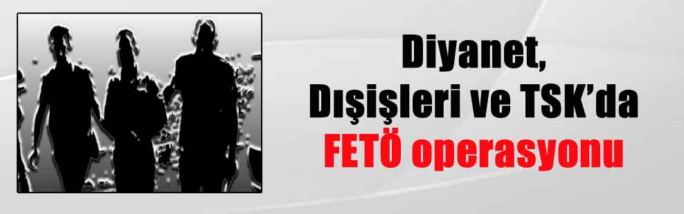 Diyanet, Dışişleri ve TSK'da FETÖ operasyonu