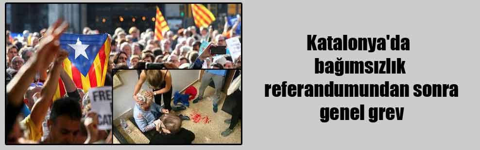 Katalonya'da bağımsızlık referandumundan sonra genel grev