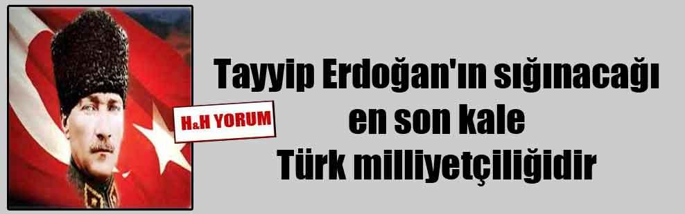 Tayyip Erdoğan'ın sığınacağı en son kale Türk milliyetçiliğidir
