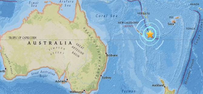Yeni Kaledonya'da 6.6 büyüklüğünde deprem