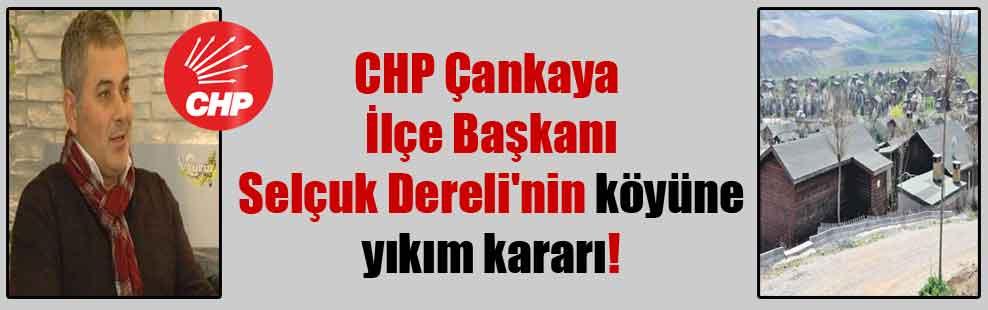 CHP Çankaya İlçe Başkanı Selçuk Dereli'nin köyüne yıkım kararı!