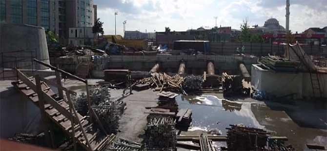 Metro inşaatında iş kazası