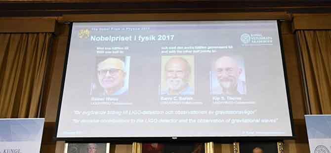 2017 Nobel Fizik Ödülü'nün sahipleri belli oldu
