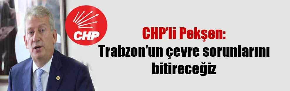 CHP'li Pekşen: Trabzon'un çevre sorunlarını bitireceğiz