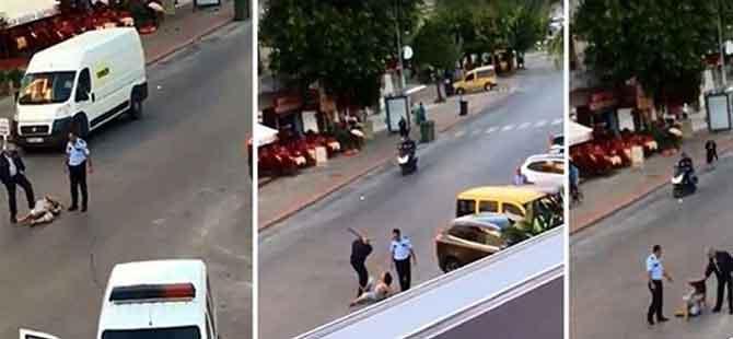 Kadına dayak atan polis tutuklandı