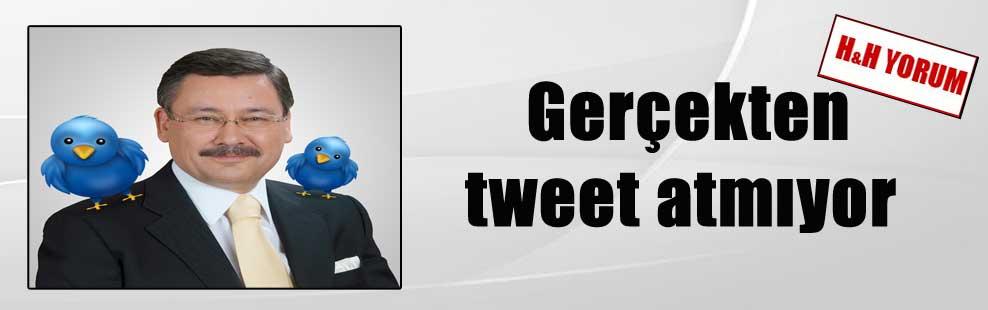 Gerçekten tweet atmıyor