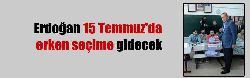 Erdoğan 15 Temmuz'da erken seçime gidecek