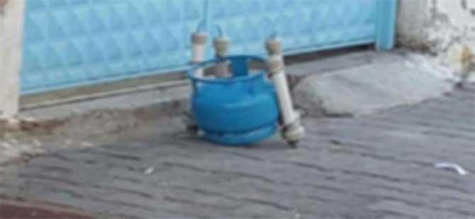 SGK'nın bahçesine atılan piknik tüpü bomba paniğine neden oldu