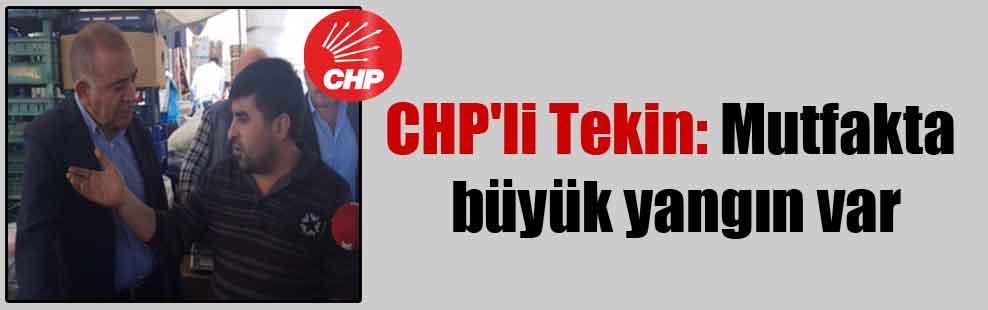 CHP'li Tekin: Mutfakta büyük yangın var