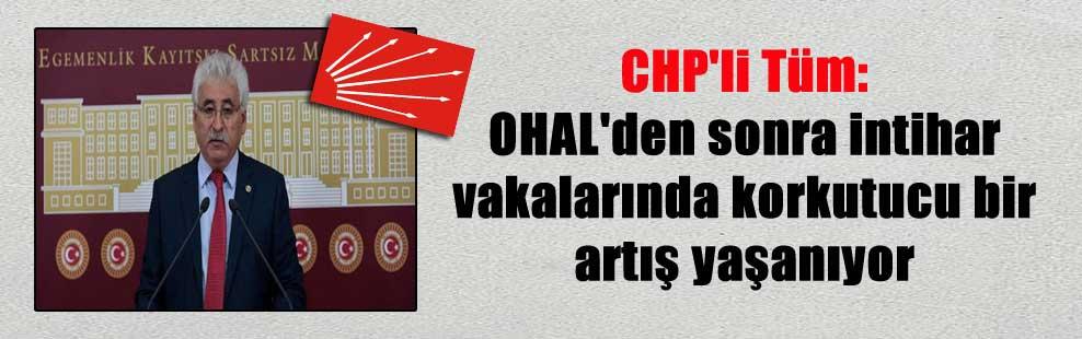 CHP'li Tüm: OHAL'den sonra intihar vakalarında korkutucu bir artış yaşanıyor