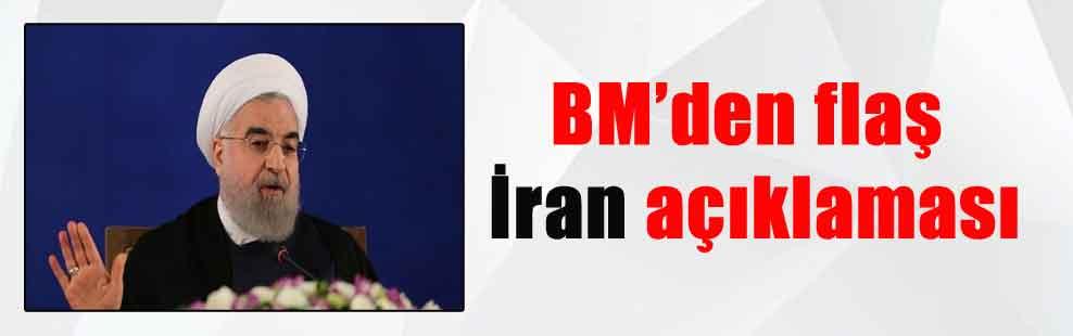 BM'den flaş İran açıklaması