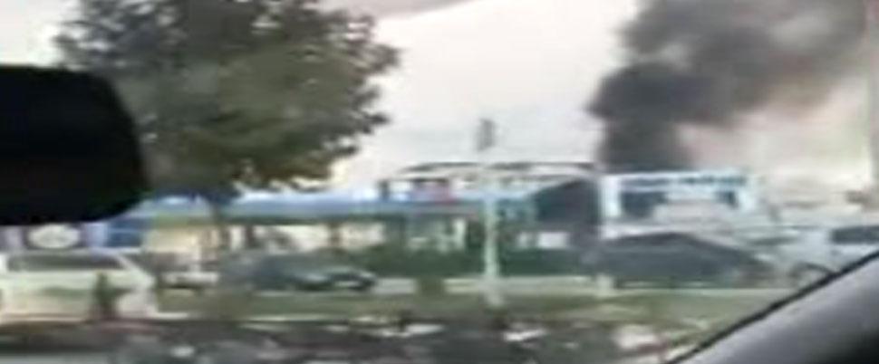 İstanbul'da akaryakıt istasyonunda yangın!