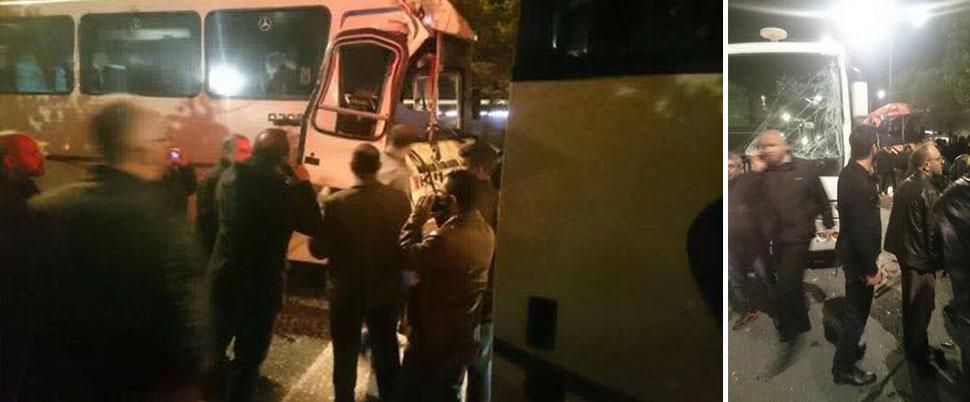 İşçileri taşıyan servis araçları çarpıştı: 15 yaralı
