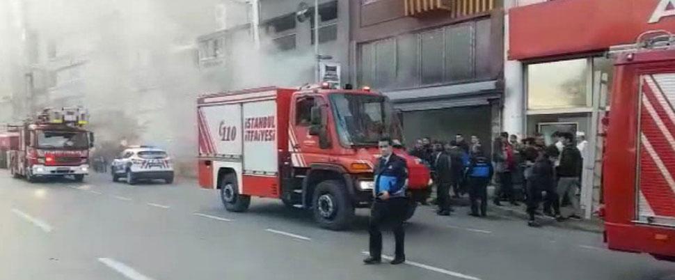 Beşiktaş'ta iş yerinde yangın!
