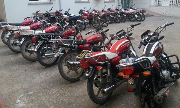76 çalıntı motosiklet ele geçti