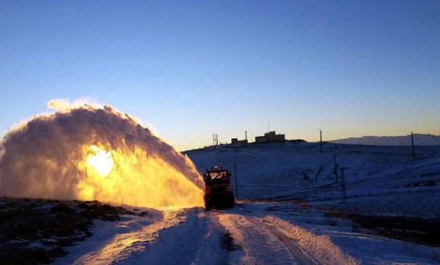 İran sınırında karla mücadele