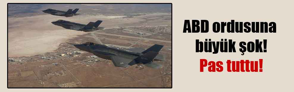 ABD ordusuna büyük şok! Pas tuttu!