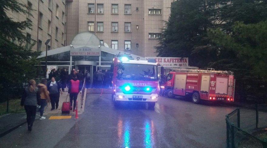 Ankara Hastanesi'nde yangın paniği