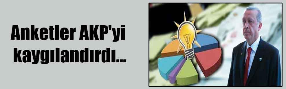 Anketler AKP'yi kaygılandırdı…