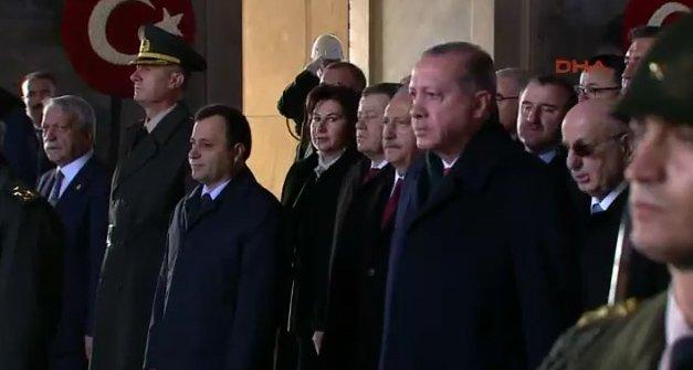 Devlet erkanı Anıtkabir'deki törene katıldı!