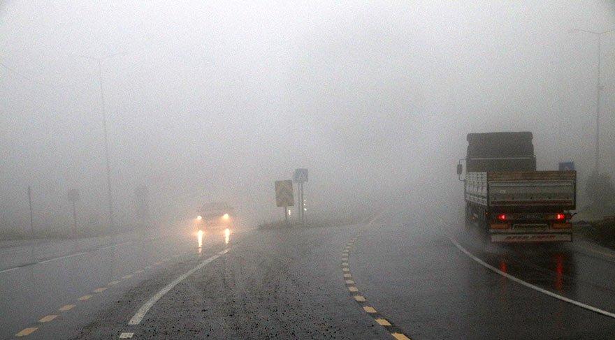 Bolu Dağı'nda sis engeli