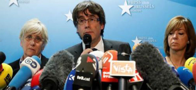 Katalan lider ve dört bakana şartlı tahliye