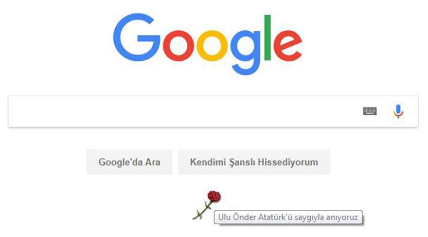 Google, 10 Kasım'ı yine unuttu!