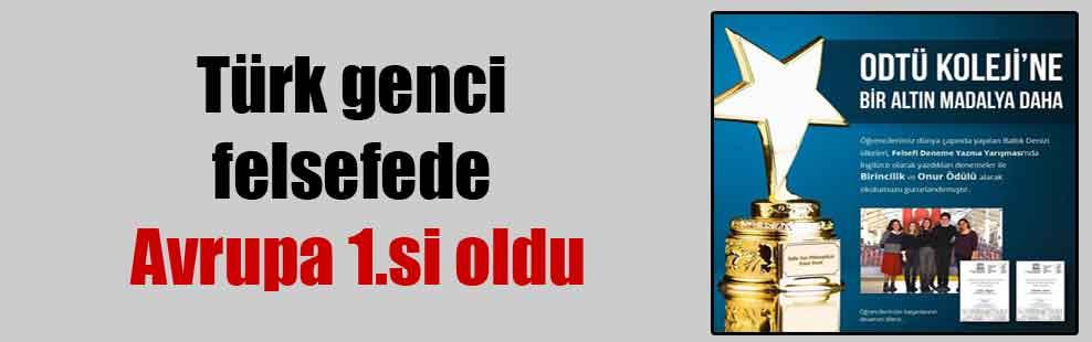 Türk genci felsefede Avrupa 1.si oldu