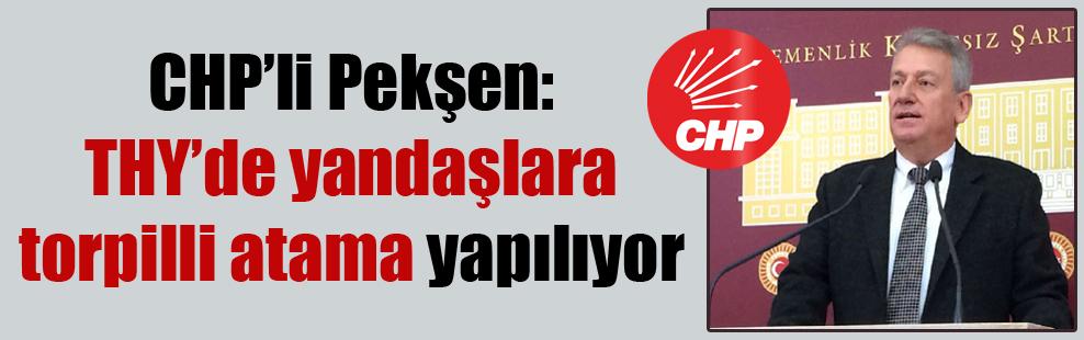 CHP'li Pekşen: THY'de yandaşlara torpilli atama yapılıyor