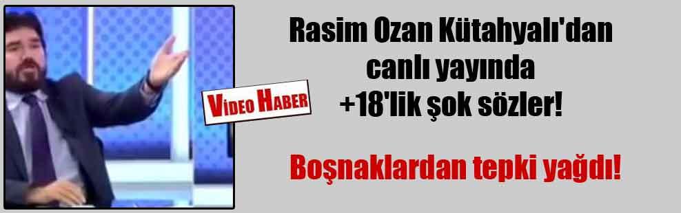 Rasim Ozan Kütahyalı'dan canlı yayında +18'lik şok sözler!