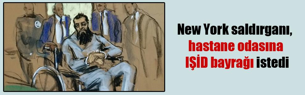 New York saldırganı, hastane odasına IŞİD bayrağı istedi