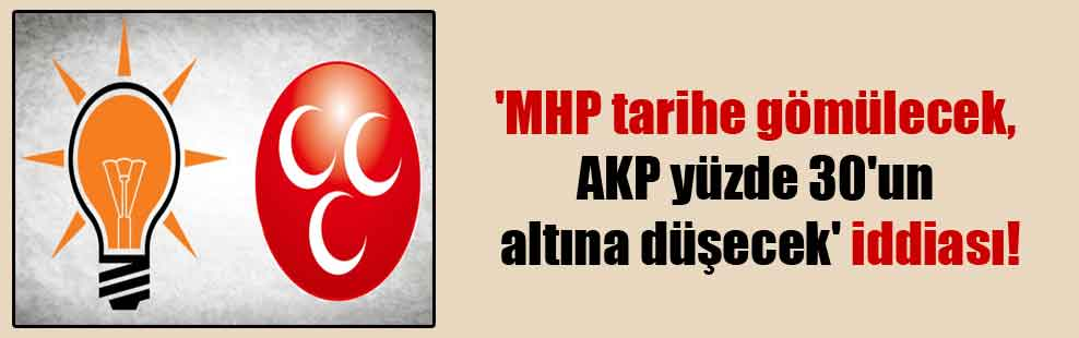'MHP tarihe gömülecek, AKP yüzde 30'un altına düşecek' iddiası!