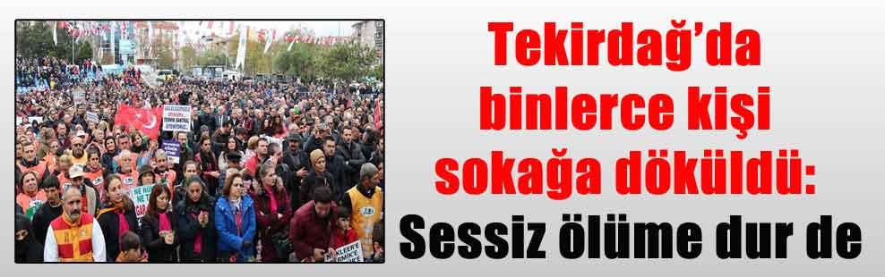 Tekirdağ'da binlerce kişi sokağa döküldü: Sessiz ölüme dur de