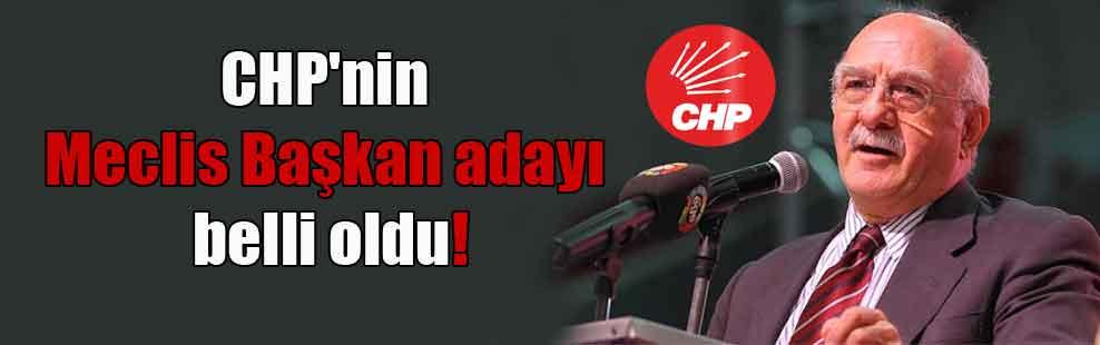 CHP'nin Meclis Başkan adayı belli oldu!