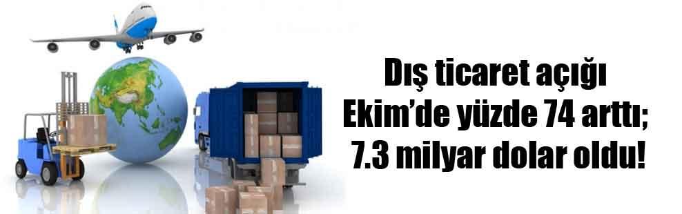 Dış ticaret açığı ekimde yüzde 74 arttı; 7.3 milyar dolar oldu!
