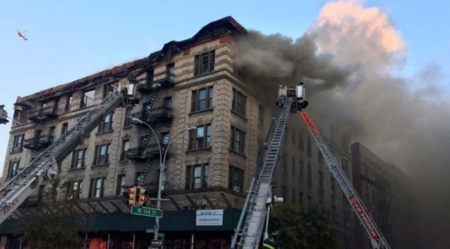 New York'ta yangın paniği!