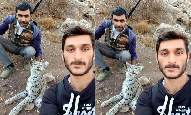 Öldürdükleri vaşakla çekildikleri fotoğrafı paylaştılar! Hayvanseverler ayakta