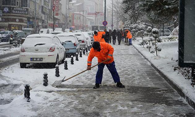 Nevşehir'de kar tatili