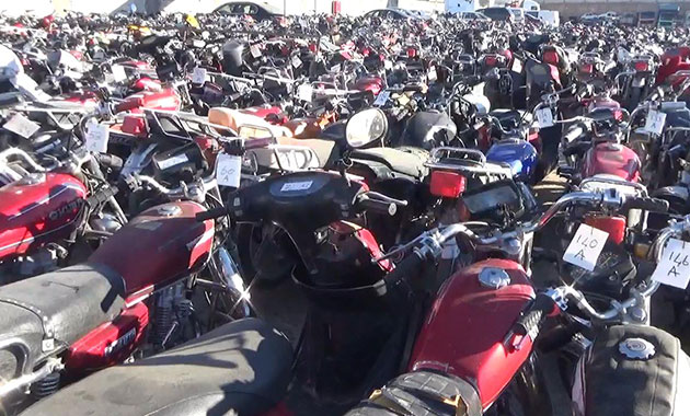 Birecik'te polis 945 motosiklete el koydu
