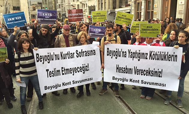 Beyoğlu'nda 'Büyük Dönüşüm Buluşması' protesto edildi