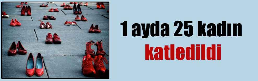 1 ayda 25 kadın katledildi