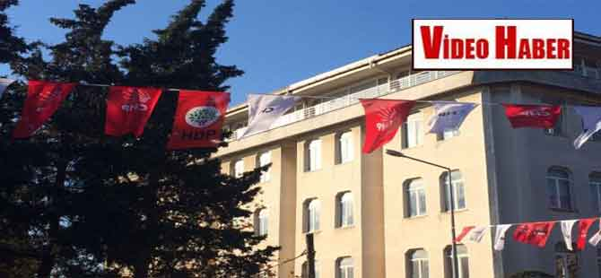 Malkara'da CHP ve HDP bayrağı yan yana görüntülendi!