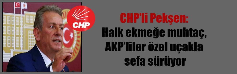 CHP'li Pekşen: Halk ekmeğe muhtaç, AKP'liler özel uçakla sefa sürüyor