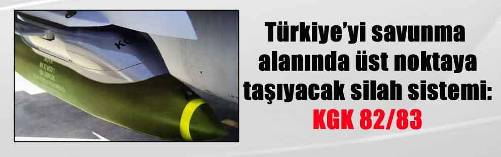 Türkiye'yi savunma alanında üst noktaya taşıyacak silah sistemi: KGK 82/83