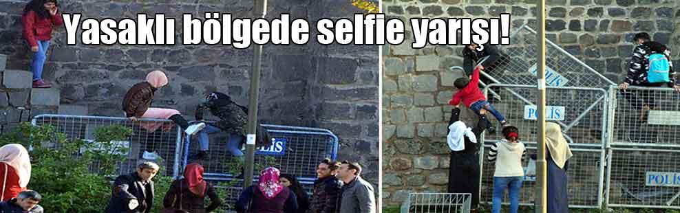 Yasaklı bölgede selfie yarışı!
