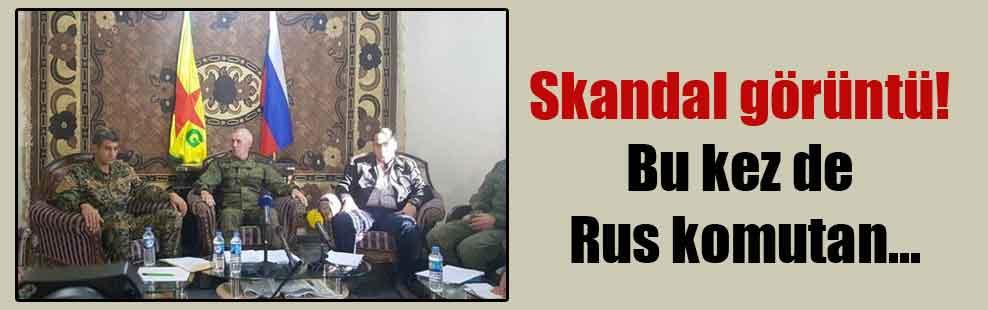 Skandal görüntü! Bu kez de Rus komutan…